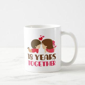 18th Anniversary Gift For Her Basic White Mug