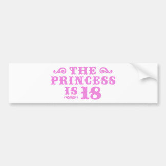 18th Birthday Bumper Sticker