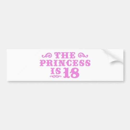 18th Birthday Bumper Sticker