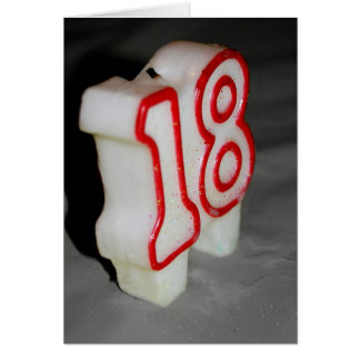 18th Birthday Candle Birthday Card