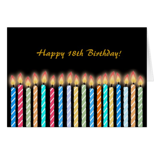 18th Birthday Candles Card Customise