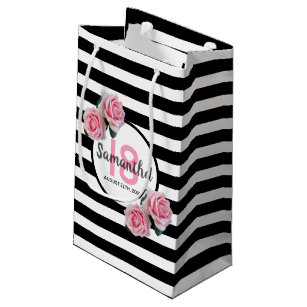 pink and black zebra gift bags