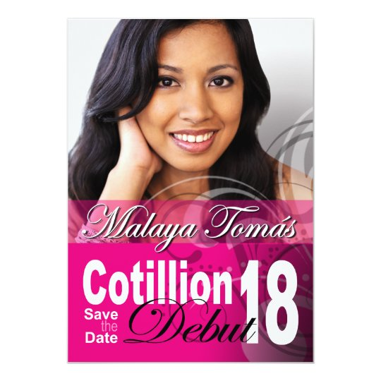 18th Birthday Cotillion Debut Save the Date Photo