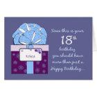 18th Birthday Customisable Card