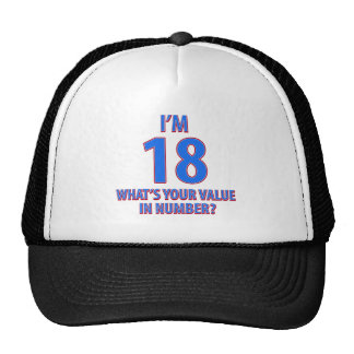 18th birthday designs cap