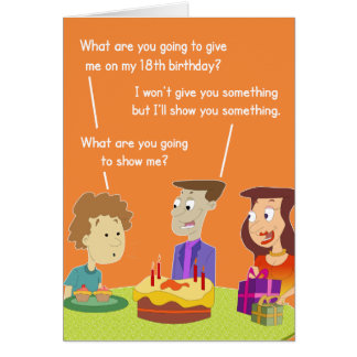 18th Birthday Gift Card. Greeting Card