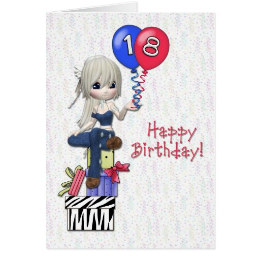 18th Birthday Cards For Girls ~ Th birthday girl cards zazzle