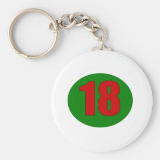 18th Birthday Key Ring
