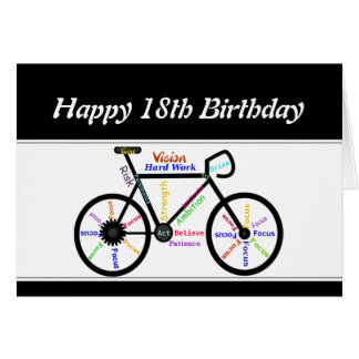 18th Birthday Motivational Bike Bicycle Cyclin8 Greeting Card