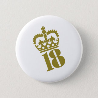 18th Birthday - Number – Eighteen 6 Cm Round Badge