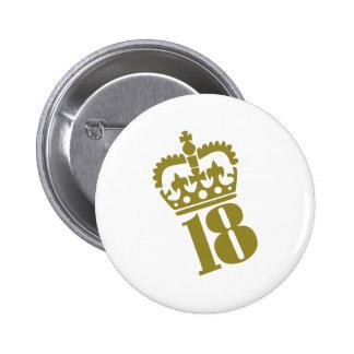 18th Birthday - Number – Eighteen 6 Cm Round Badge