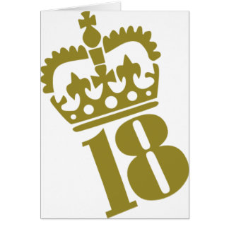 18th Birthday - Number – Eighteen Card