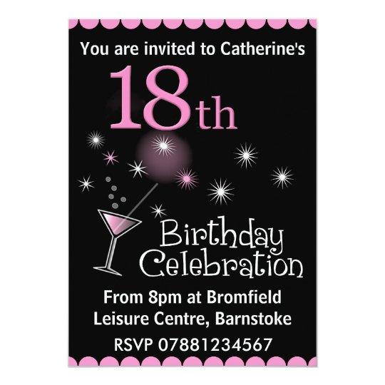18th Birthday Party Invitation Zazzlecouk