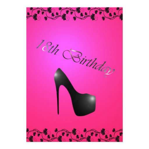 18th Birthday Party Invitation for Girls