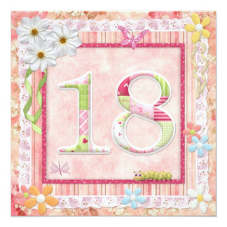 18th birthday party scrapbooking style card