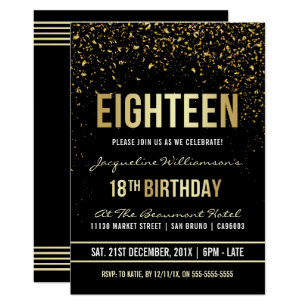 18th Birthday Invitations Announcements
