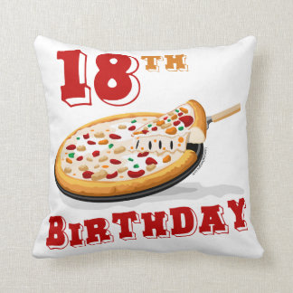18th Birthday Pizza Party Cushion