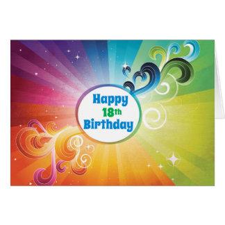 18th Birthday Religious Card Rainbow Blessings