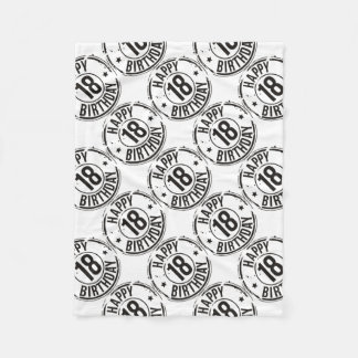 18TH BIRTHDAY STAMP EFFECT FLEECE BLANKET