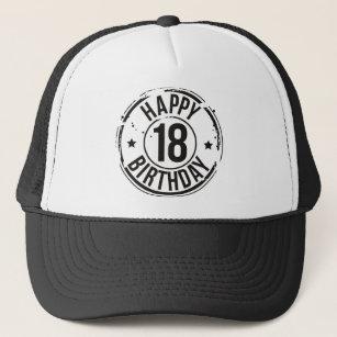18TH BIRTHDAY STAMP EFFECT TRUCKER HAT