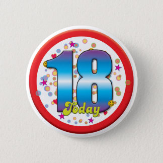 18th Birthday Today v2 6 Cm Round Badge