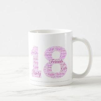 18th Birthday Word Art - Design Coffee Mug