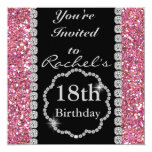 18th BLING Birthday Party Invitation