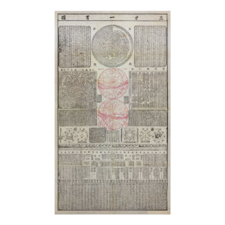 18th Cen. Chinese Astro Map - MED QUAL (see note) Poster