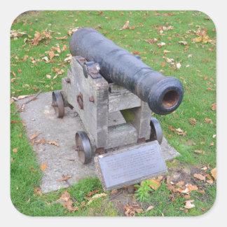 18th Century Cannon Square Sticker