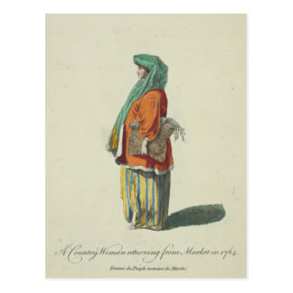 18th-Century Colorful Clothes Vintage Postcard
