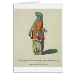 18th-Century Colourful Clothes Vintage Card