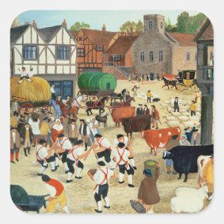 18th century Mayfair cattle market Square Sticker