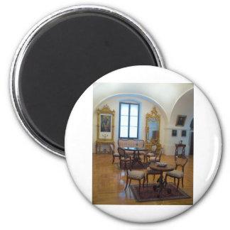18th Century Room 6 Cm Round Magnet
