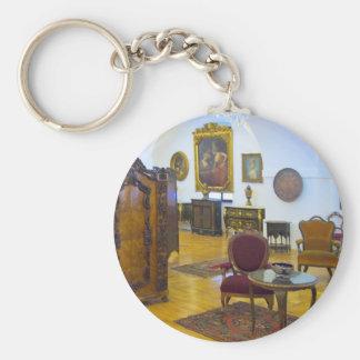 18th Century Room Basic Round Button Key Ring