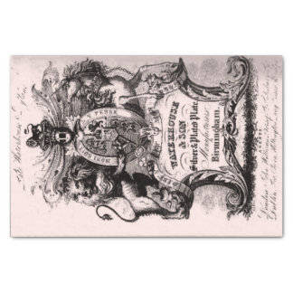 18th Century Trade Bussiness Card Tissue Paper