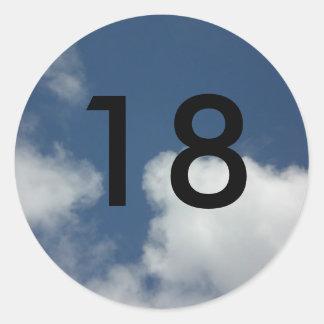 18th classic round sticker