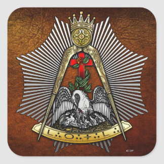 18th Degree: Knight of the Rose Croix Square Sticker