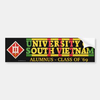 18th Engineer Bde - U of S Vietnam Alumnus Sticker Bumper Sticker