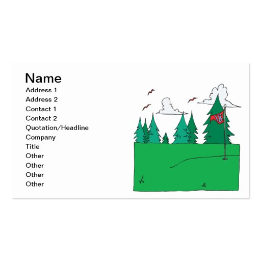 18th Hole Business Card Templates
