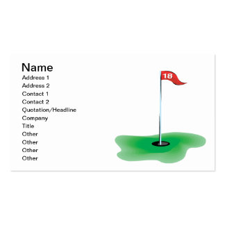 18th Hole Business Cards