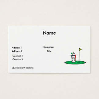 18th hole golf graphic business card