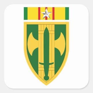 18th MP Brigade Vietnam - Silver Star Square Sticker