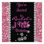 18th PINK CHIC Birthday Party Invitation