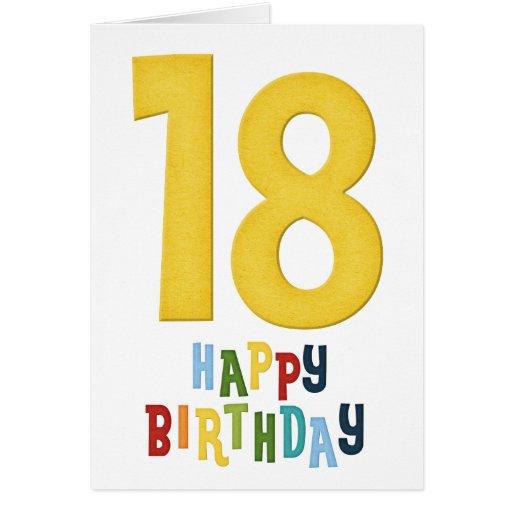 18th Year D2 Happy Birthday Greeting Card