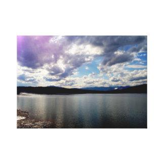18x24 CANVAS -Purple Clouds Over Ashokan Reservoir Canvas Print