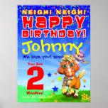 "18x24"" GiggleBellies Bucky Birthday Poster"