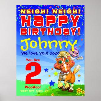 18x24 GiggleBellies Bucky Birthday Poster