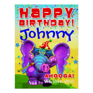 18x24 GiggleBellies Peanut Birthday Star Poster
