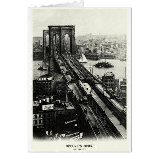 1900 Brooklyn Bridge Greeting Card