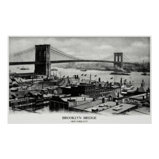 1900 Brooklyn Bridge Poster